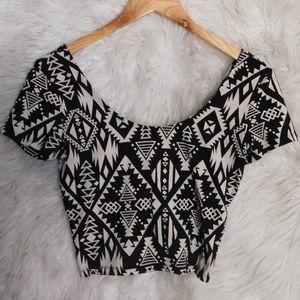 PINK Victoria's Secret Aztec Crop Top